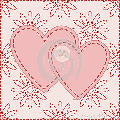 Valentines sewed with button