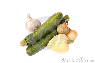Two varieties of Squash