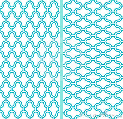 Free Two Vector Abstract Lattice Seamless Patterns Stock Photo - 24575900
