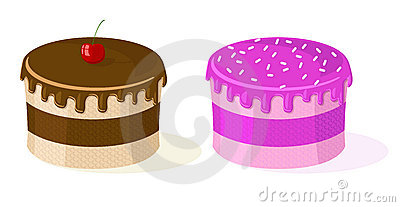 Two vector cakes