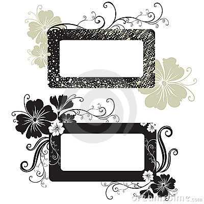 Free Two Vector Floral Vintage Frame Stock Photo - 10652260