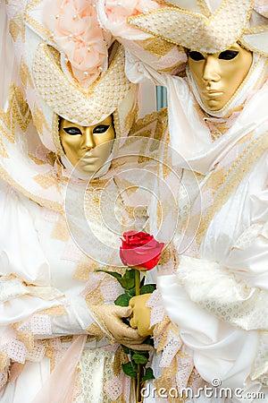 Two Venice Masks, Carnival.