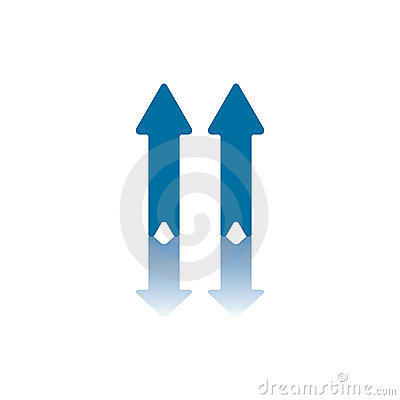 Two Vertical Arrows Stock Photography - Image: 6328532