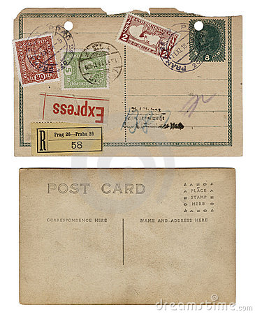 Free Two Vintage Antique Postcards Royalty Free Stock Images - 11994799