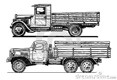 Two vintage car.