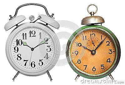 Two vintage clock