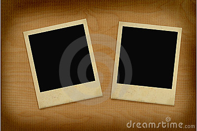 Two vintage photo frames