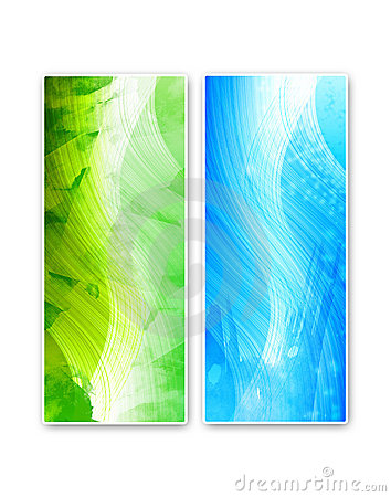 Two vivid abstract cards