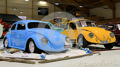 Two Volkswagen Beetle Retro Cars Editorial Image