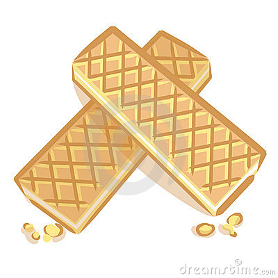 Two wafers vector