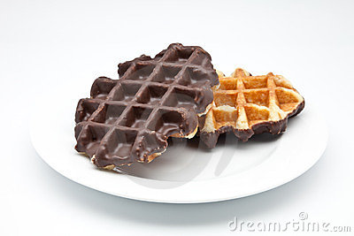 Two waffles