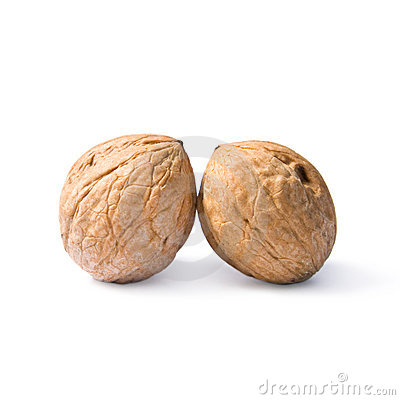 Free Two Walnuts. Royalty Free Stock Image - 13272586