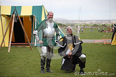Two Warriors at Celtic Festival Editorial Photography