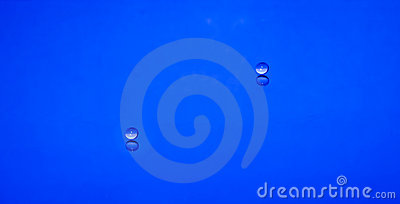 Two waterdrops