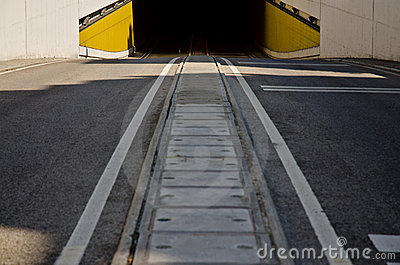 Two way road tunnel