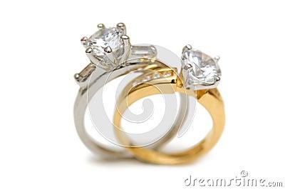 Two wedding diamond rings