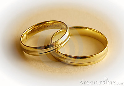 Two Wedding Rings Stock Images Image 4325754