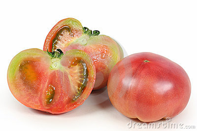 Two were cut tomatoes