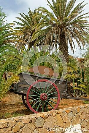 Two wheel wooden cart