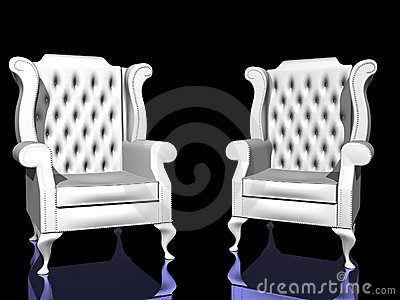 Two White Chairs Stock Photography - Image: 1256052