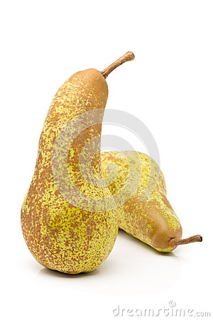 Free Two Whole, Uncut Abate Fetel Pears Royalty Free Stock Images - 83407099
