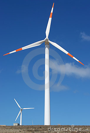 Two wind mill power generators