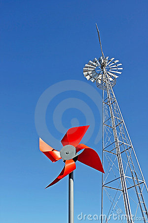 Two windmills