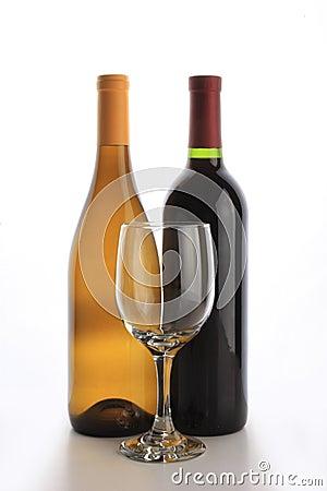 Two wine bottles