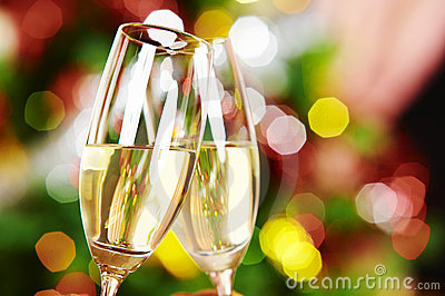 Two Wineglasses Stock Image - Image: 3887811