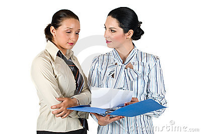 Two woman conversation