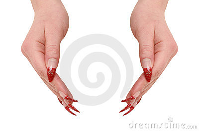 Two woman hands