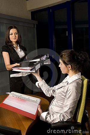 Free Two Woman Working Royalty Free Stock Photography - 5411967