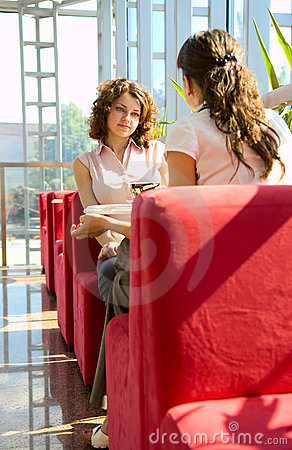 Free Two Women In Cafe Stock Photo - 5443510