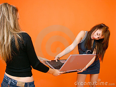 Two Women And A Laptop