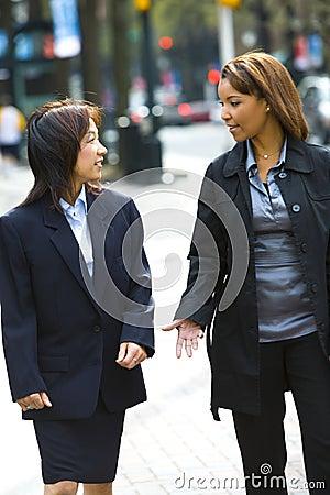 Free Two Women On City Sidewalk Stock Photos - 5621153