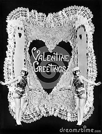 Free Two Women Posing On Valentine Stock Image - 52030651