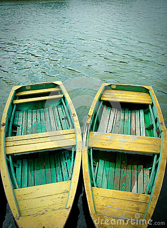 Free Two Wooden  Boats Berth Royalty Free Stock Photo - 29388855