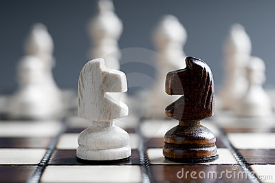 Two wooden chess