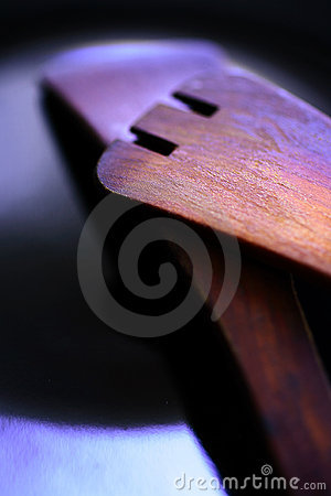 Two wooden spatulas