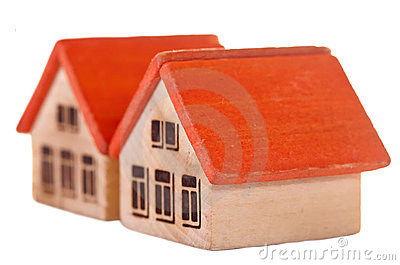 Two  wooden  toy houses
