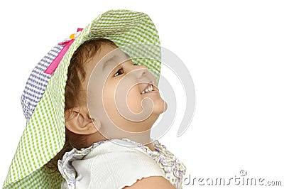 Cute girl in floppy hat