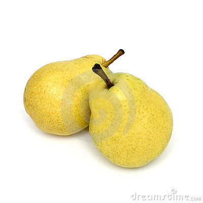 Free Two Yellow Pears Stock Photography - 316272