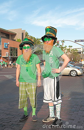 USA, AZ/Tempe: St. Patricks Day - Irish in Arizona Editorial Stock Image