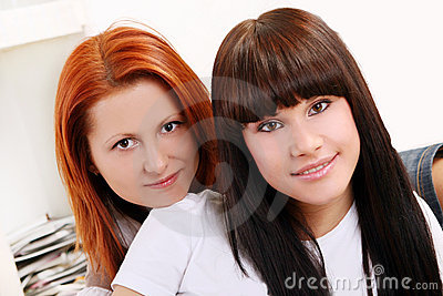 Two young and beautiful sisters