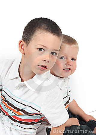 Two young brothers