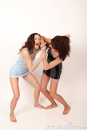 Two young fighting women 2