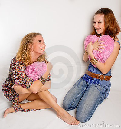 Two young girls with soft hearts