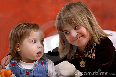 Two Young Handicapped Girls