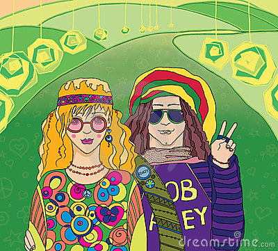 Two Young Hippies