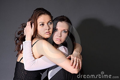 Two young lesbian girl friend